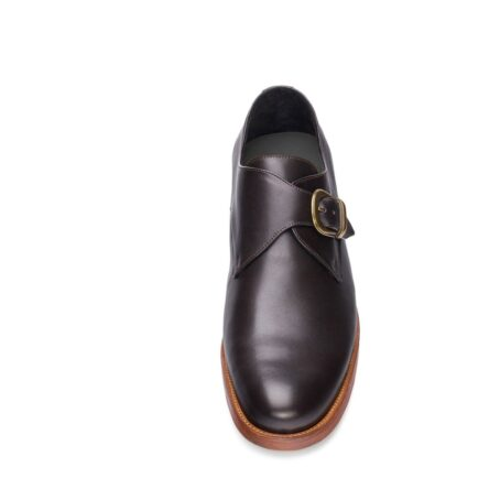 monk strap dark leather shoes 2