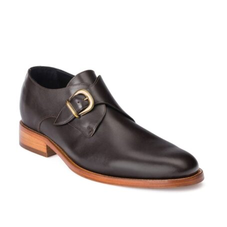 monk strap dark leather shoes 5