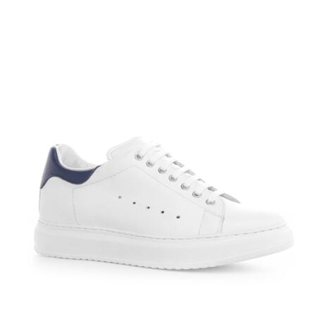 Leather sneaker with elevated heel for men Guidomaggi