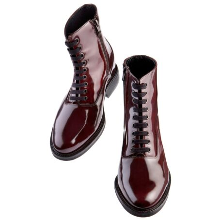 patent burgundy boots for women 2