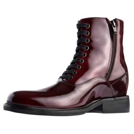 patent burgundy boots for women 3