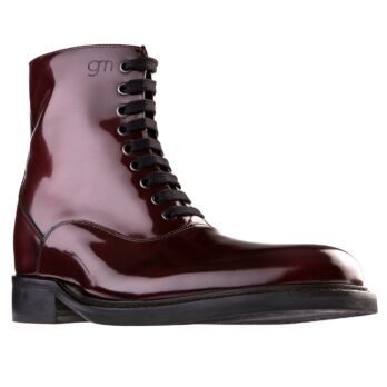 patent burgundy boots for women 1