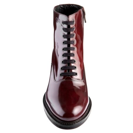 patent burgundy boots for women 4