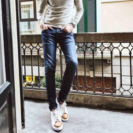 Man wearing Guidomaggi sneakers