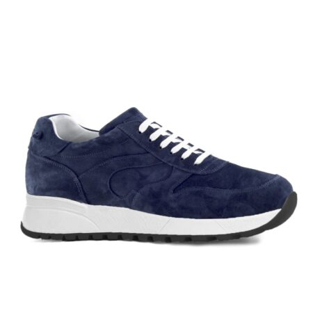 blue suede sneakers with white sole 1