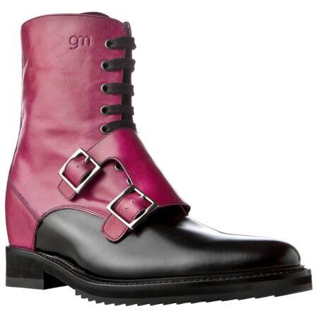 boots shiny fuchsia and black 1