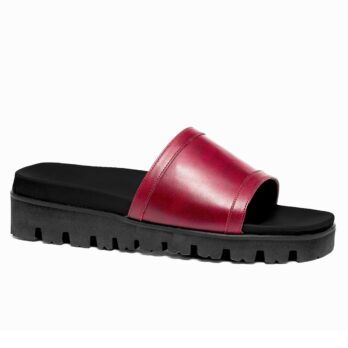 Black and red elevator sandals 1