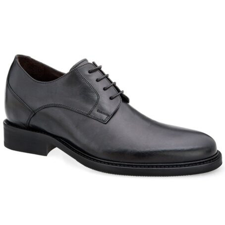 derby cerimonials shoes in black full-grain leather 1