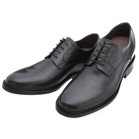 derby cerimonials shoes in black full-grain leather 2