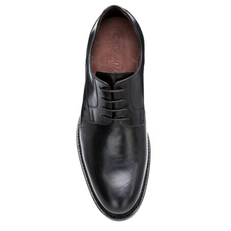 derby cerimonials shoes in black full-grain leather 4