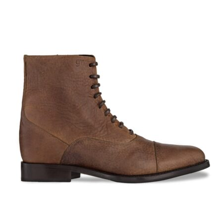 Elegant men's boots in brown nappa leather 1