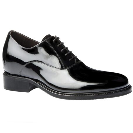 Oxford shoes in calf black patent leather 1