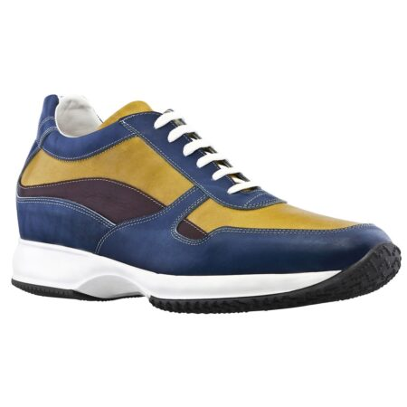 Blue and yellow sneakers 1