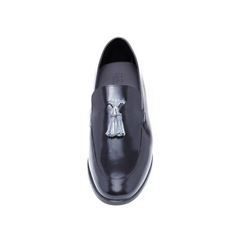 Shiny black tassel loafers 4
