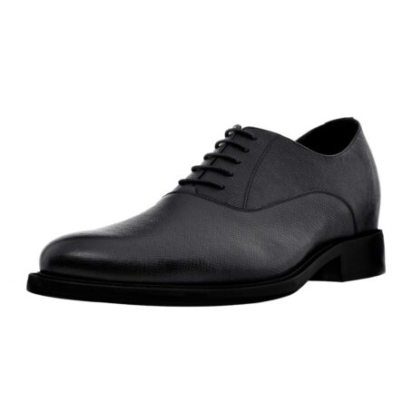 Black textured oxford shoes 3