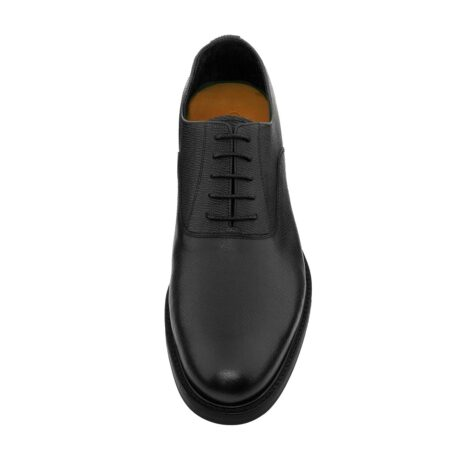 Black textured oxford shoes 4
