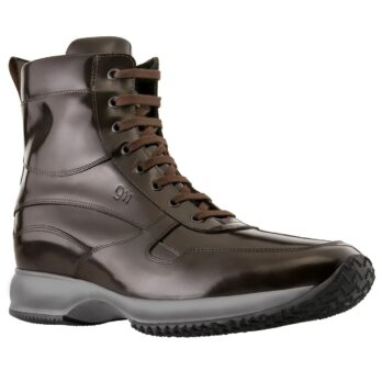 Shiny leather sneakersboots 1