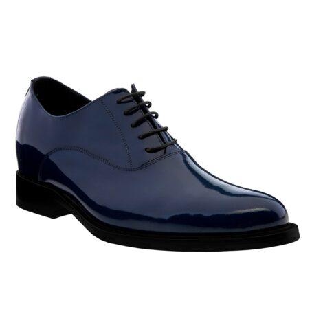 Patent blue oxford shoes 1