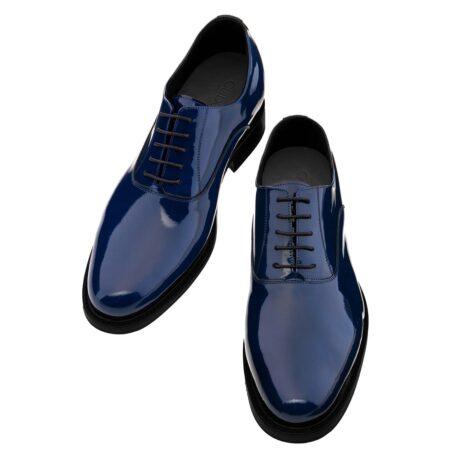 Patent blue oxford shoes 2