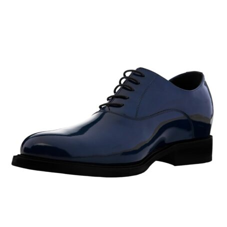 Patent blue oxford shoes 3