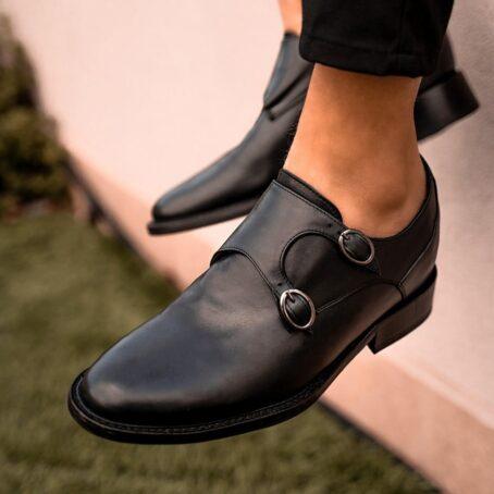 Double monk strap shoes 8