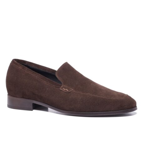 Brown suede opera loafers 1