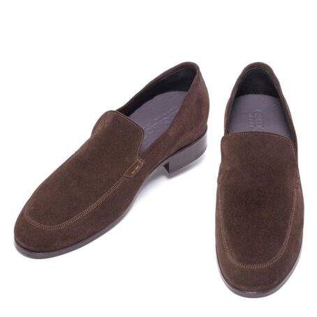 Brown suede opera loafers 2