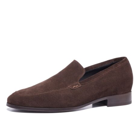 Brown suede opera loafers 3