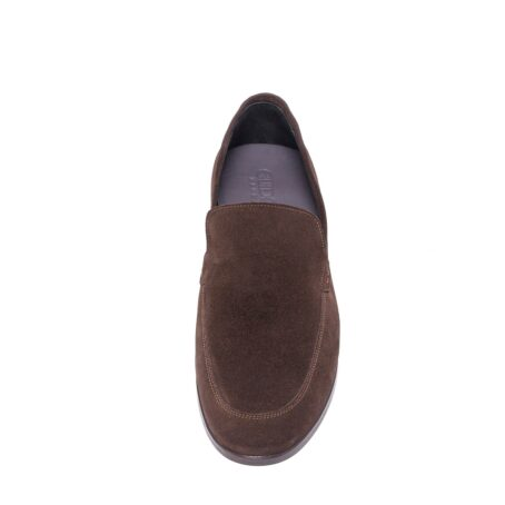 Brown suede opera loafers 4