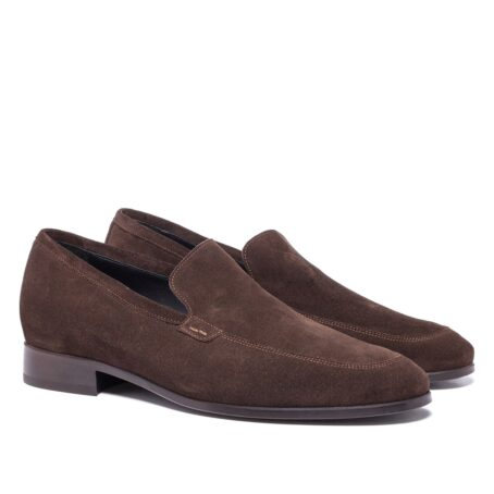 Brown suede opera loafers 5