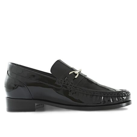 Patent black horsebit shoes 1