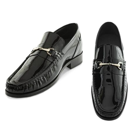 Patent black horsebit shoes 2