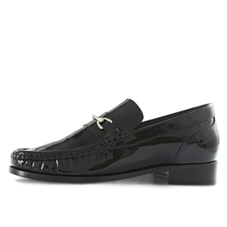 Patent black horsebit shoes 3