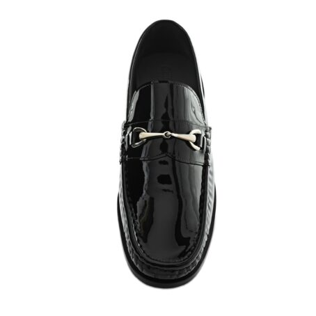 Patent black horsebit shoes 4