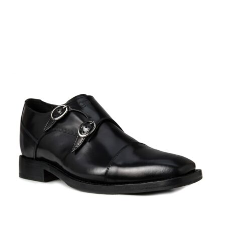 Black elegant double monk strap 1