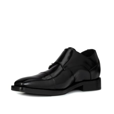 Black elegant double monk strap 3