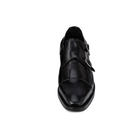 Black elegant double monk strap 4