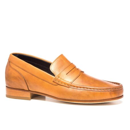 Cognac penny loafers 1