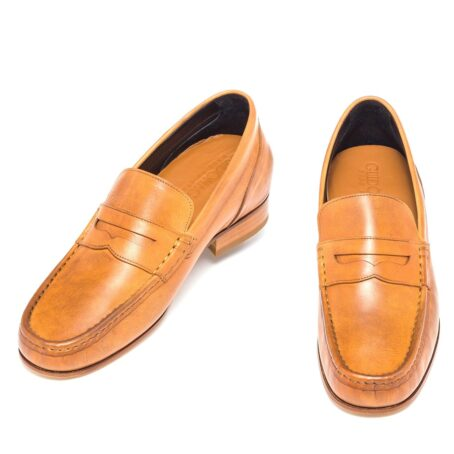 Cognac penny loafers 2