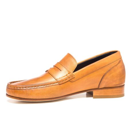 Cognac penny loafers 3