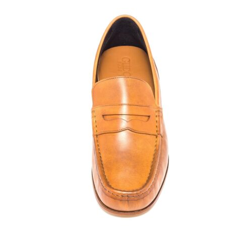 Cognac penny loafers 4