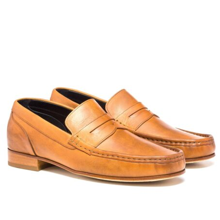 Cognac penny loafers 5