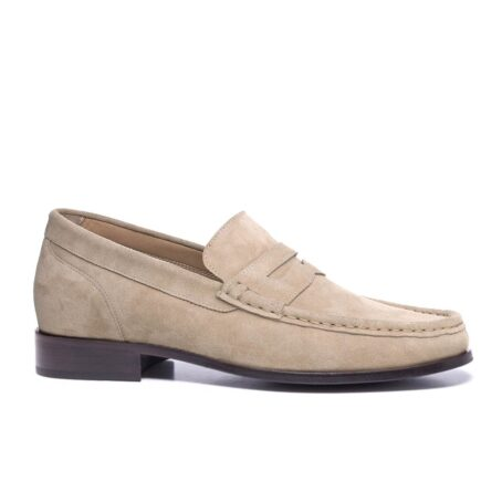Suede penny loafers 1