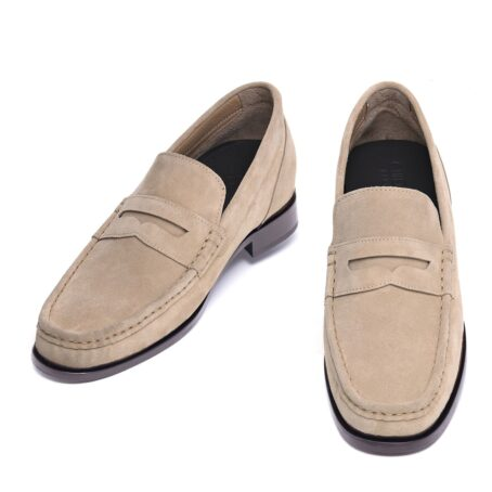 Suede penny loafers 2