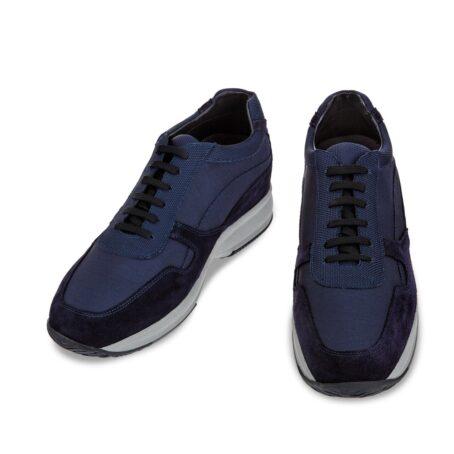Blue suede sneakers 2
