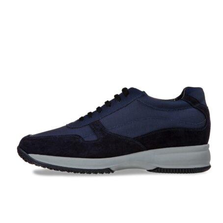 Blue suede sneakers 3