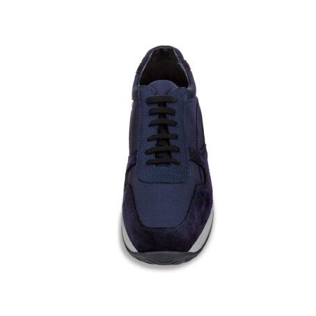 Blue suede sneakers 4