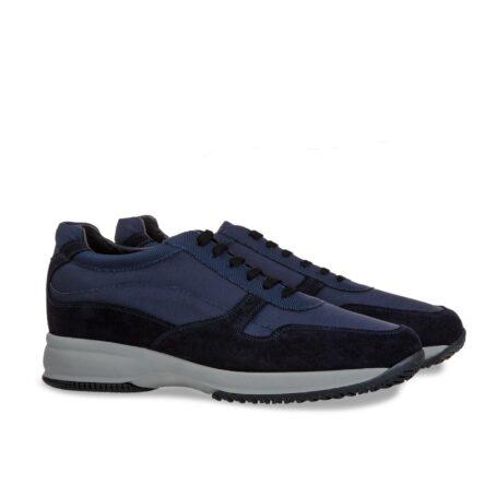 Blue suede sneakers 5