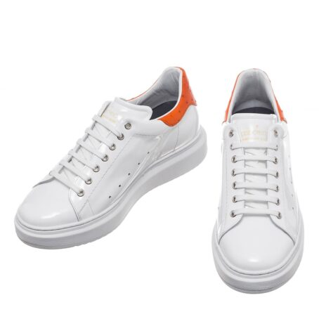 Patent and ostrich leather sneakers 2