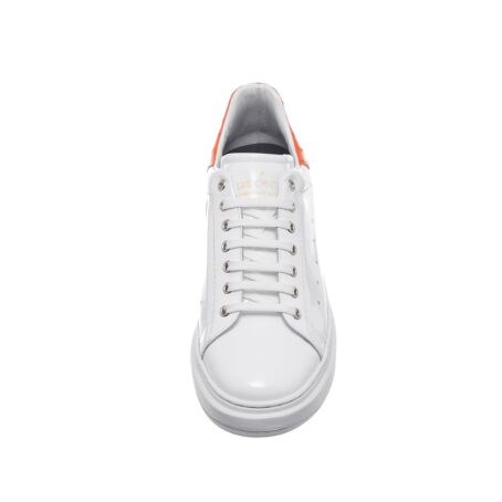 Patent and ostrich leather sneakers 4